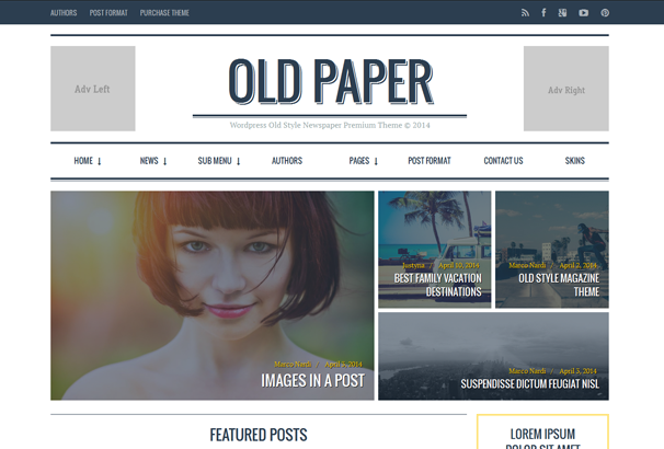 Old Paper WordPress Theme Screenshot